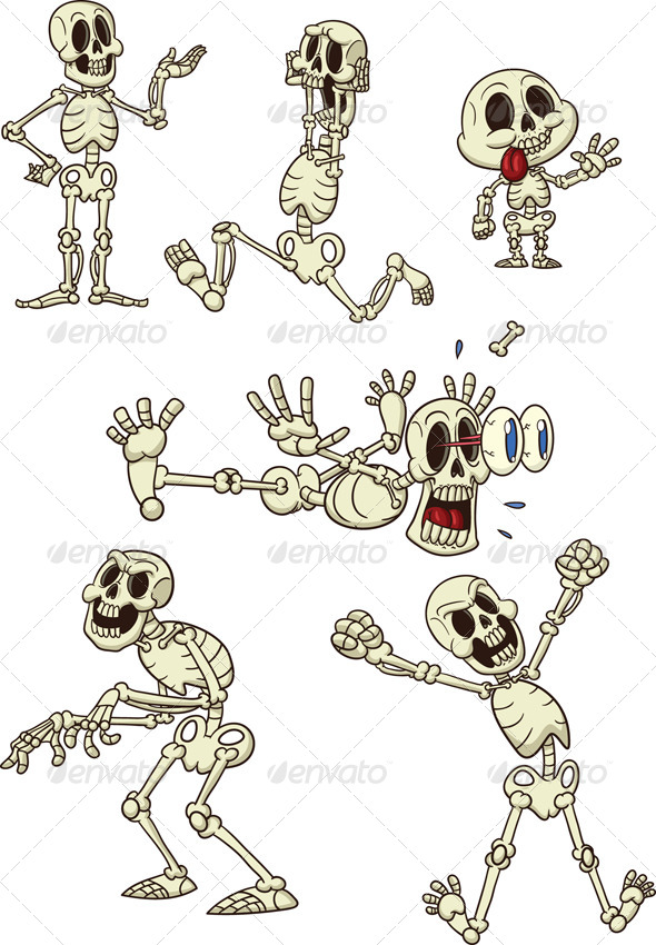 GraphicRiver Cartoon Skeletons 5443520