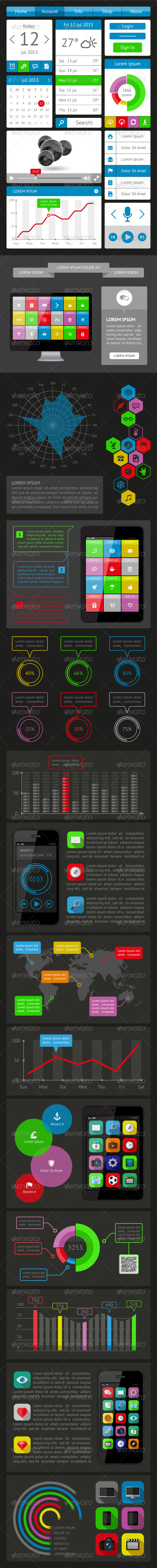 GraphicRiver Ui Infographics and Web Elements 5443833