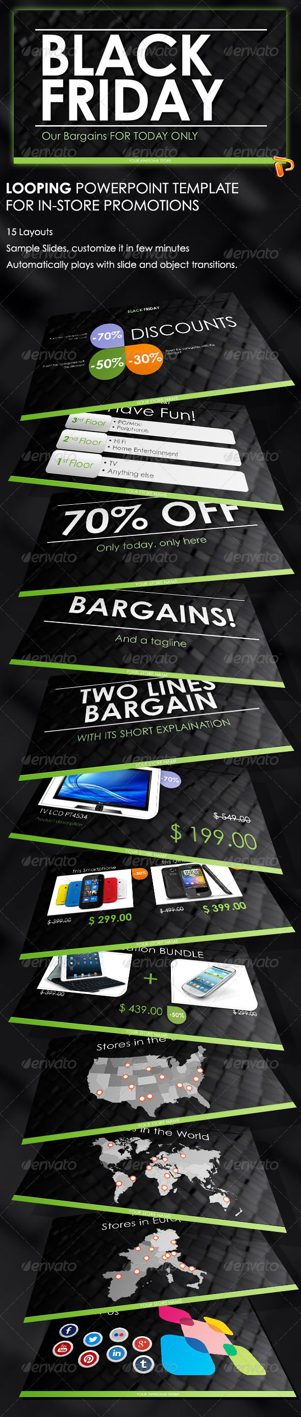 GraphicRiver Black Friday PowerPoint Template 5443857