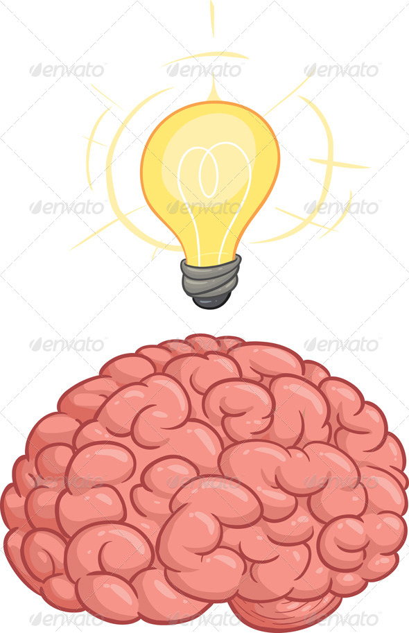 GraphicRiver Brain with Idea 5443907