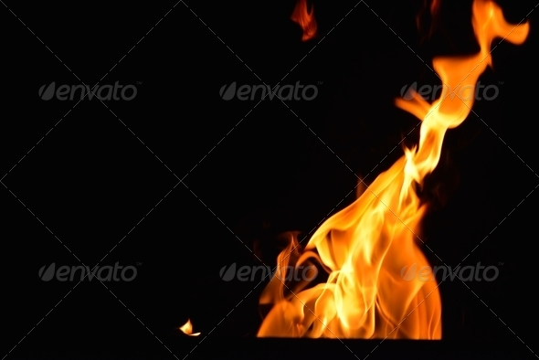 fire flame background - Stock Photo - Images