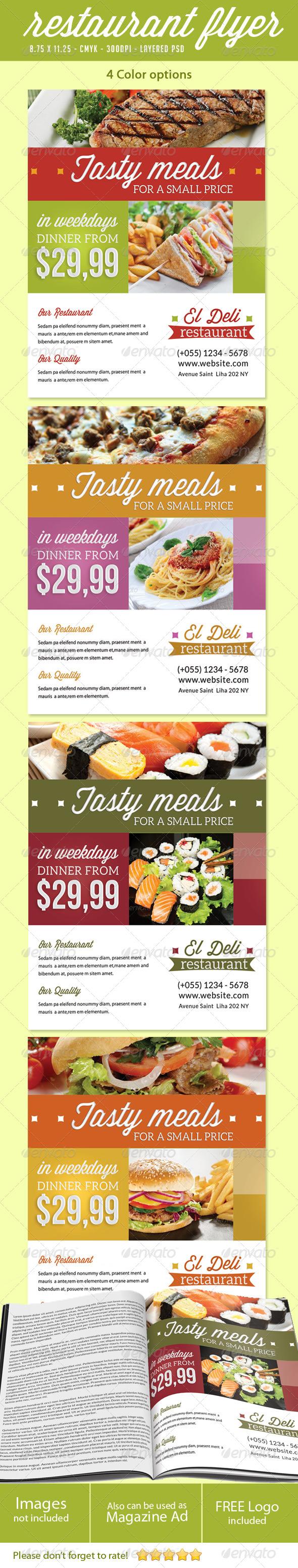 GraphicRiver Restaurant Flyer Print Ad 5444346