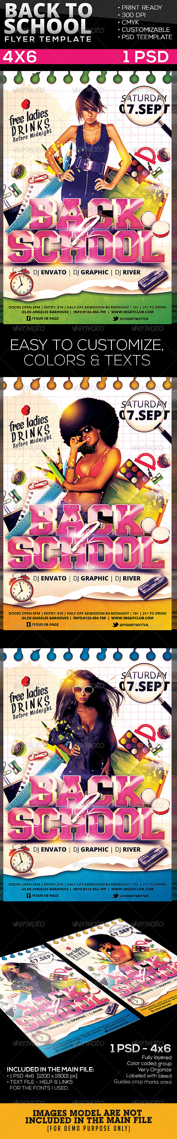 GraphicRiver Back To School Flyer 5424203