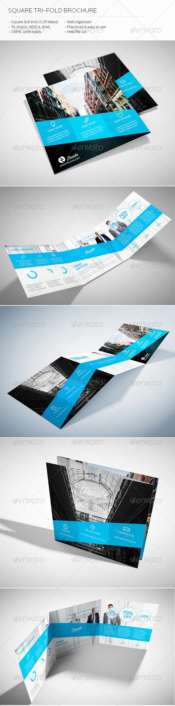 GraphicRiver Trustx Square Tri-fold Brochure 5427991