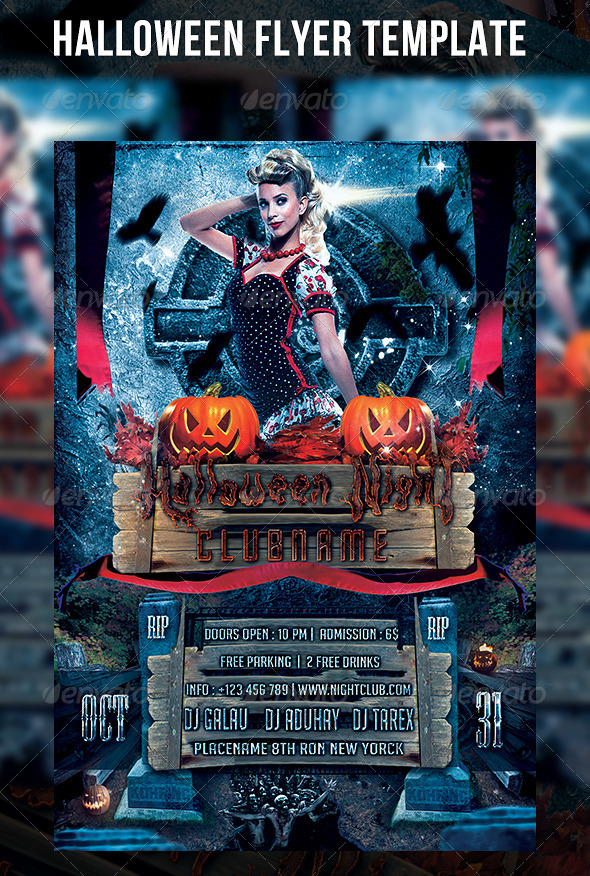 GraphicRiver Halloween Flyer Template 5419160