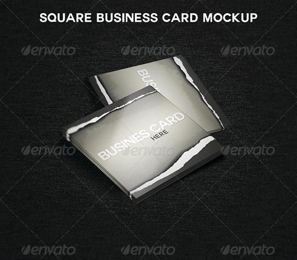 GraphicRiver Square Business Card MockUp 5445000