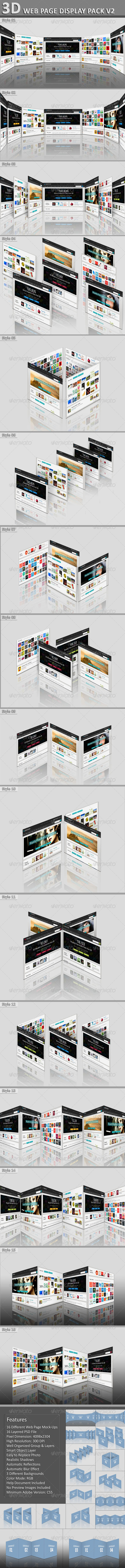 3D Web Page Display Pack V2