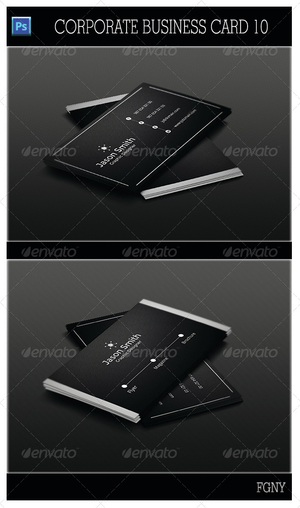 GraphicRiver Corporate Business Card 10 5445092