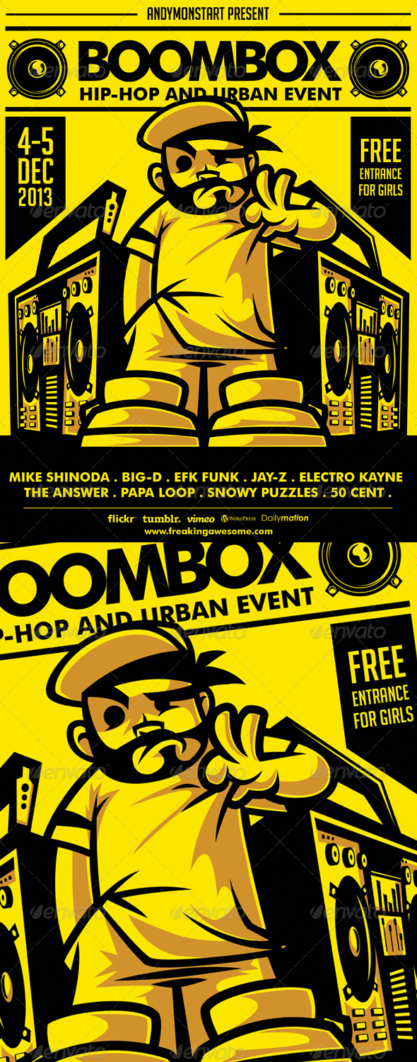 Boombox Hip-Hop and Urban Flyer