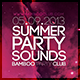 Summer Party Club Flyer - GraphicRiver Item for Sale