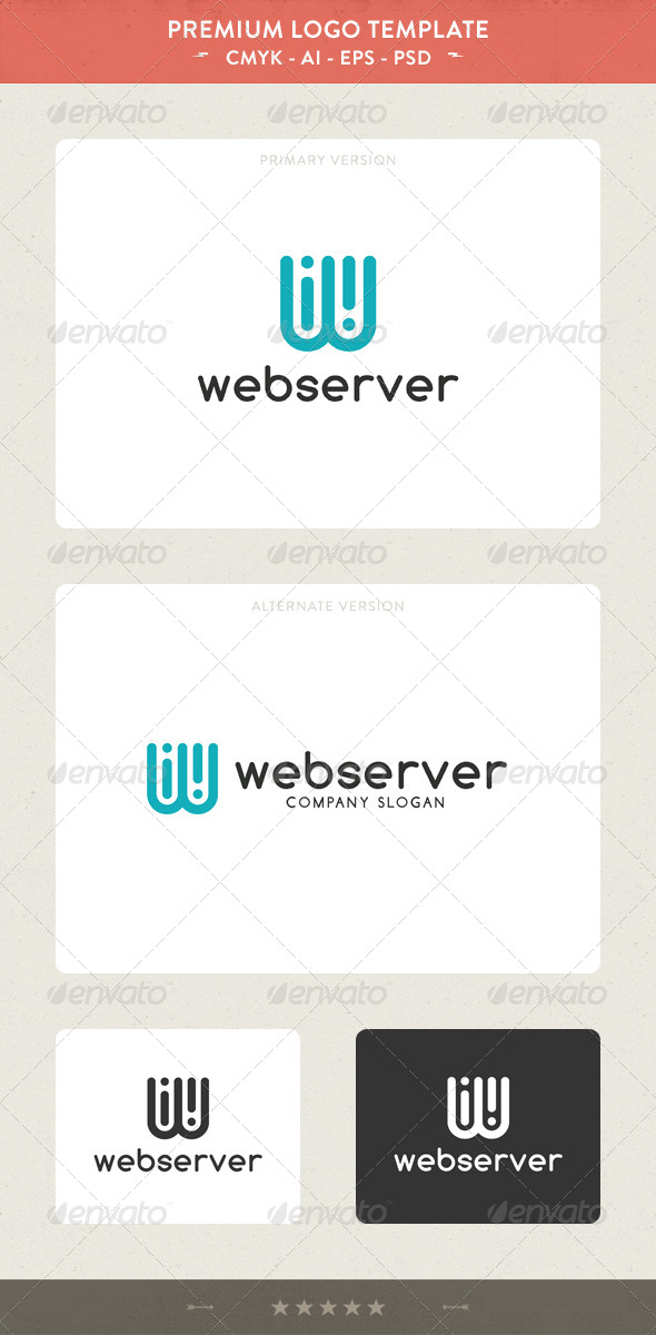 GraphicRiver Web Server W Letter Logo 5445570