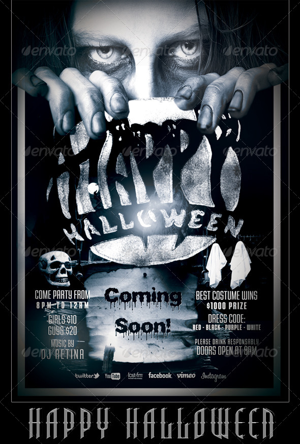 GraphicRiver Halloween Flyer Poster Template 5445812
