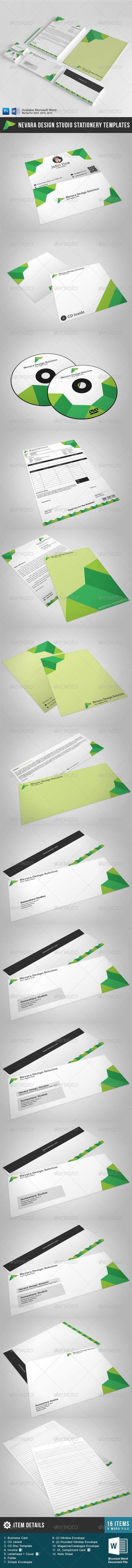 GraphicRiver Nevara Design Studios Stationery 5445818