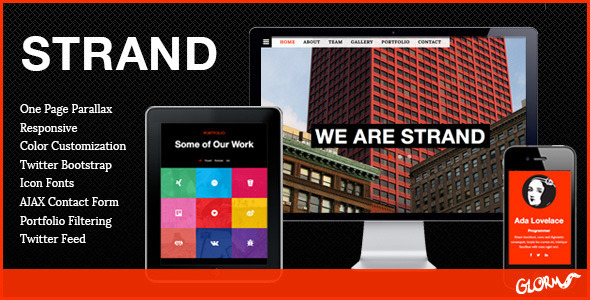 ThemeForest STRAND One Page Parallax Bootstrap Template 5445825
