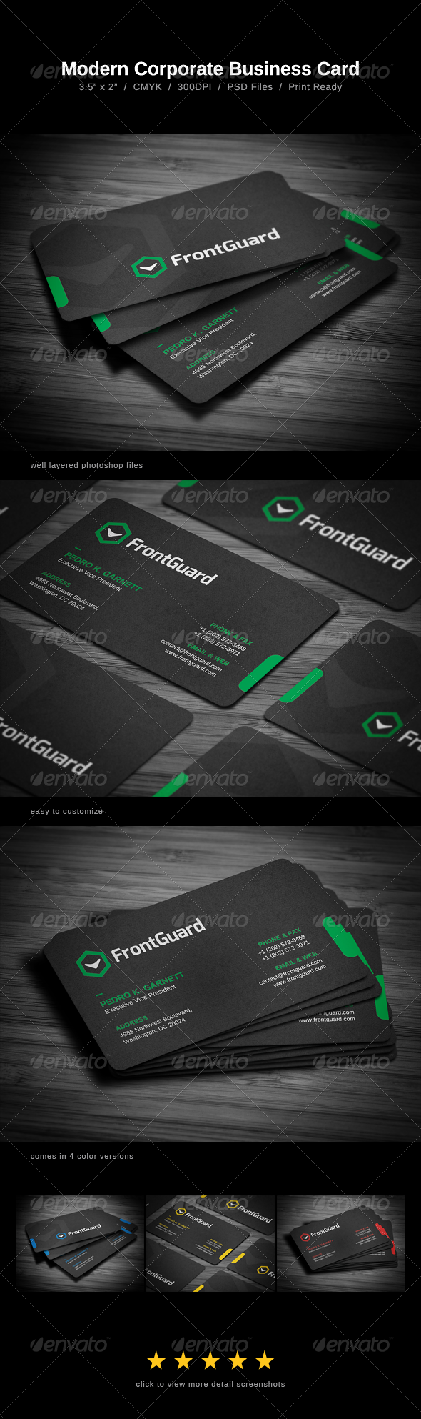 Modern Corporate Business Card - Business Cards Print Templates