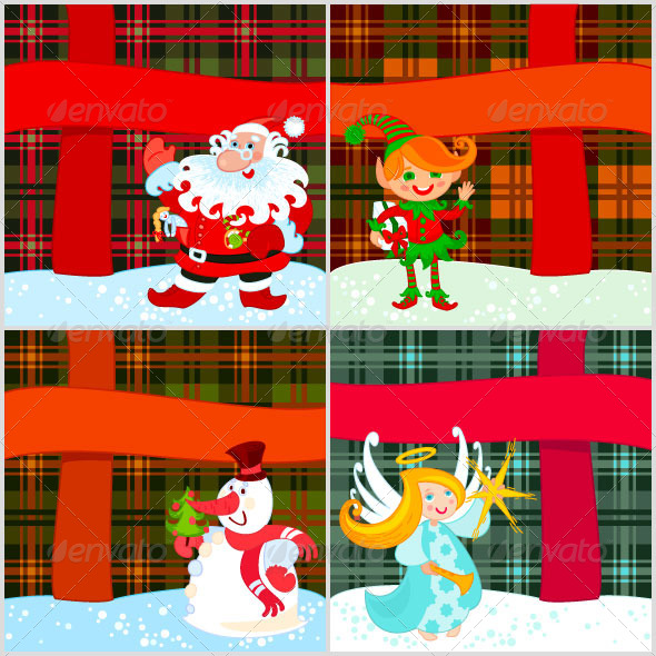 GraphicRiver Four Christmas Cards 5446155