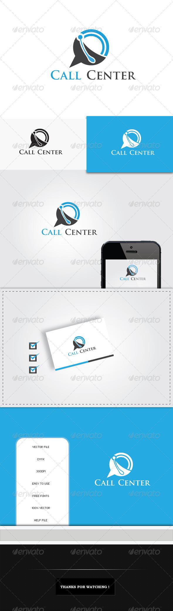 GraphicRiver Call Center Logo Template 5446161