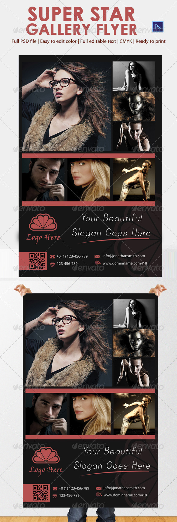 GraphicRiver Super Star Gallery Flyer 5446384