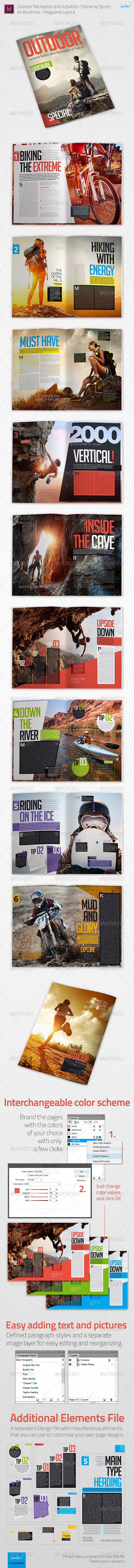 Outdoor Recreation Extreme Sports A4 Brochure