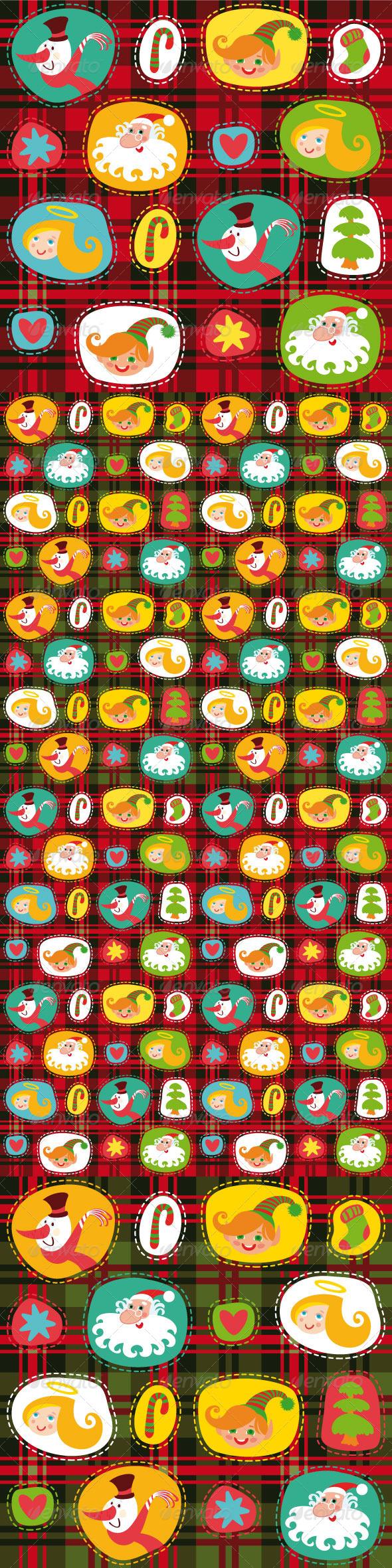 GraphicRiver Christmas Plaid 5446798