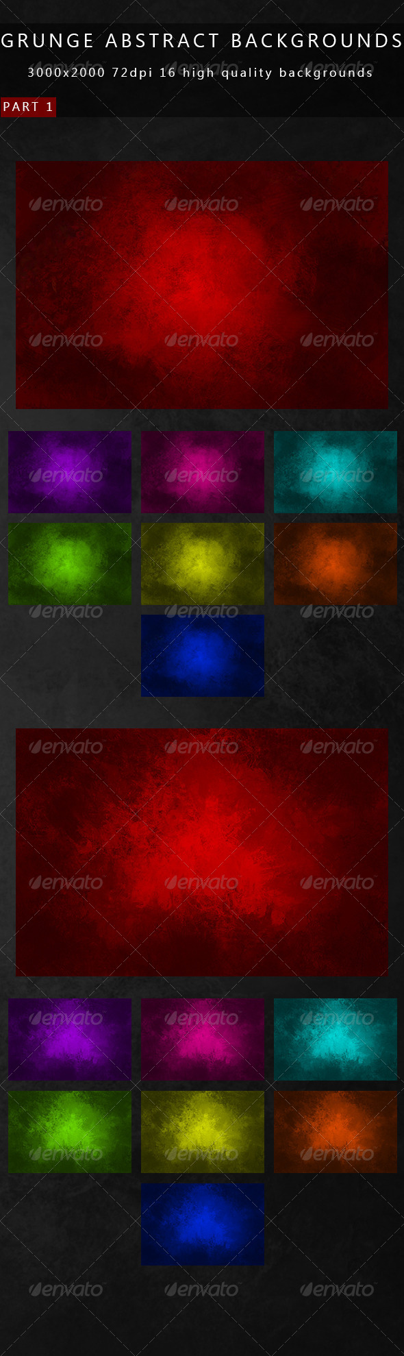 Grunge Abstract Backgrounds 2in1 - Abstract Backgrounds
