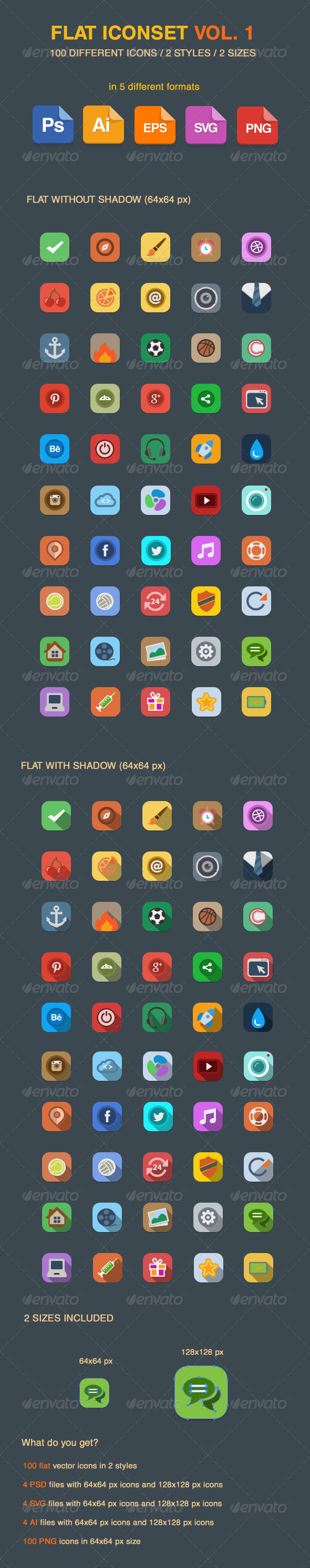 GraphicRiver Flat Vector Iconset Vol 1 5406806