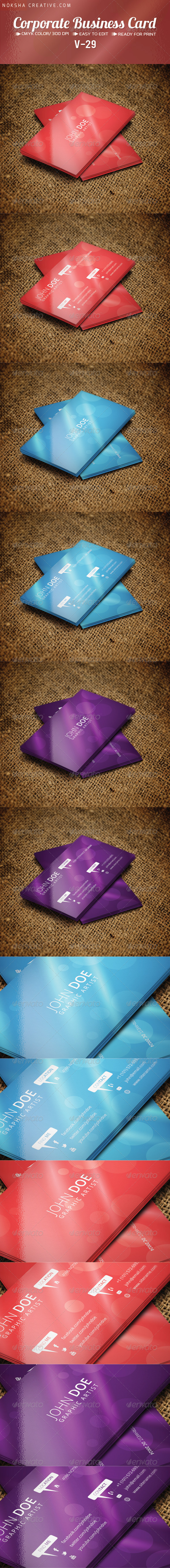 GraphicRiver Corporate Business Card V 29 5447105