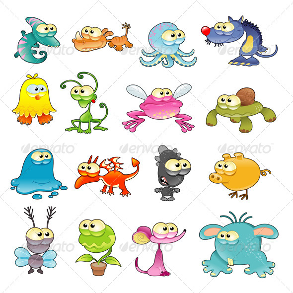 GraphicRiver Family of Monsters 5447217