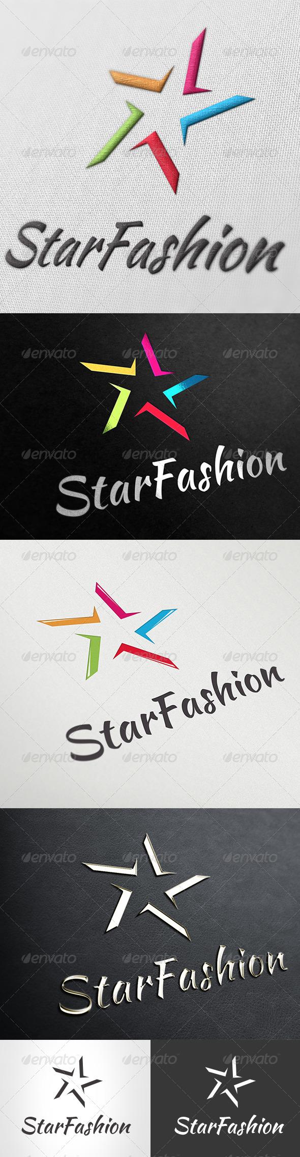 GraphicRiver Logo Star Fashion 5447355