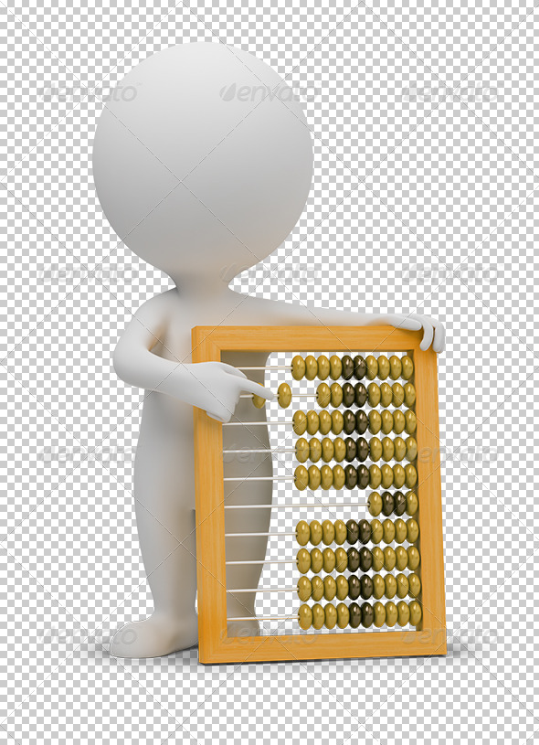 GraphicRiver 3D small people abacus 5447428