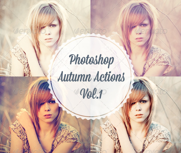 GraphicRiver 4 Photoshop Autumn Actions 5447752