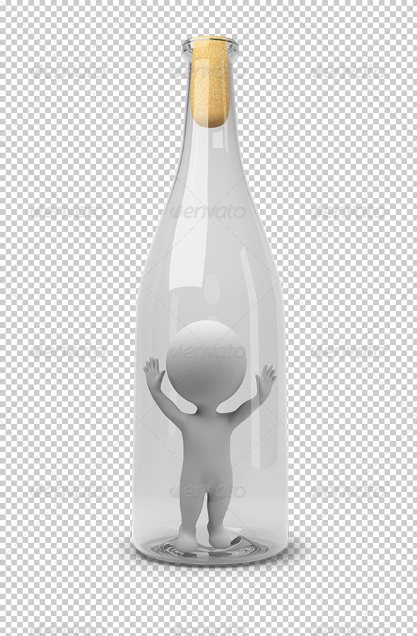 GraphicRiver 3D small people in a bottle 5447974