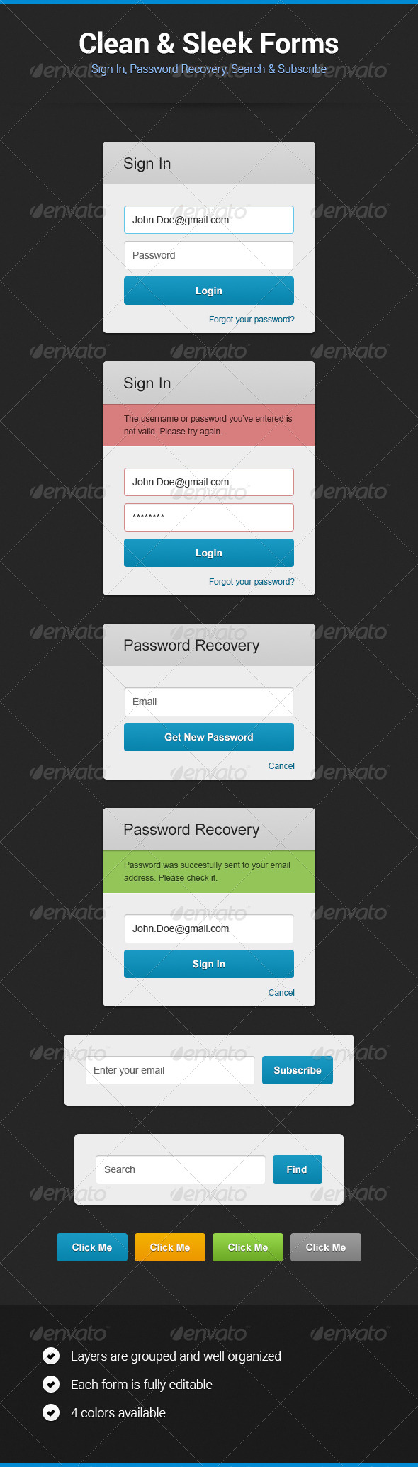 GraphicRiver Clean & Sleek Forms 5447990