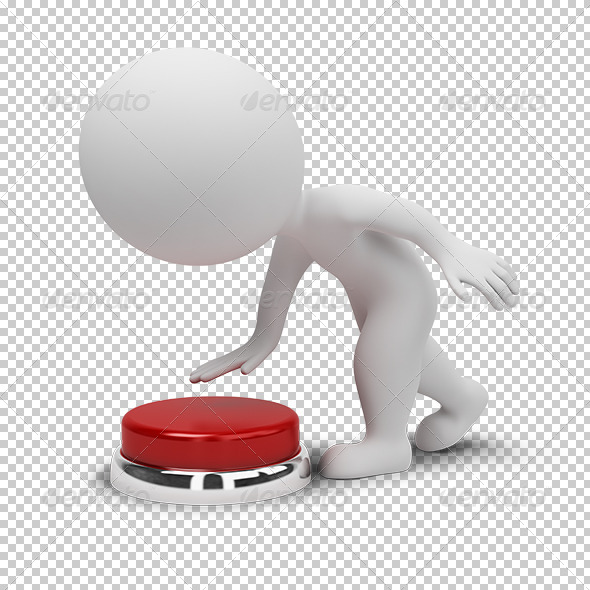 3D small people button