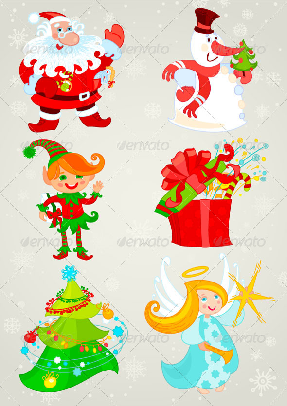 GraphicRiver Santa claus and friends 5447997