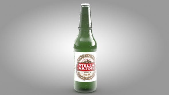 Stella Artois Beer Bottle - 3DOcean Item for Sale