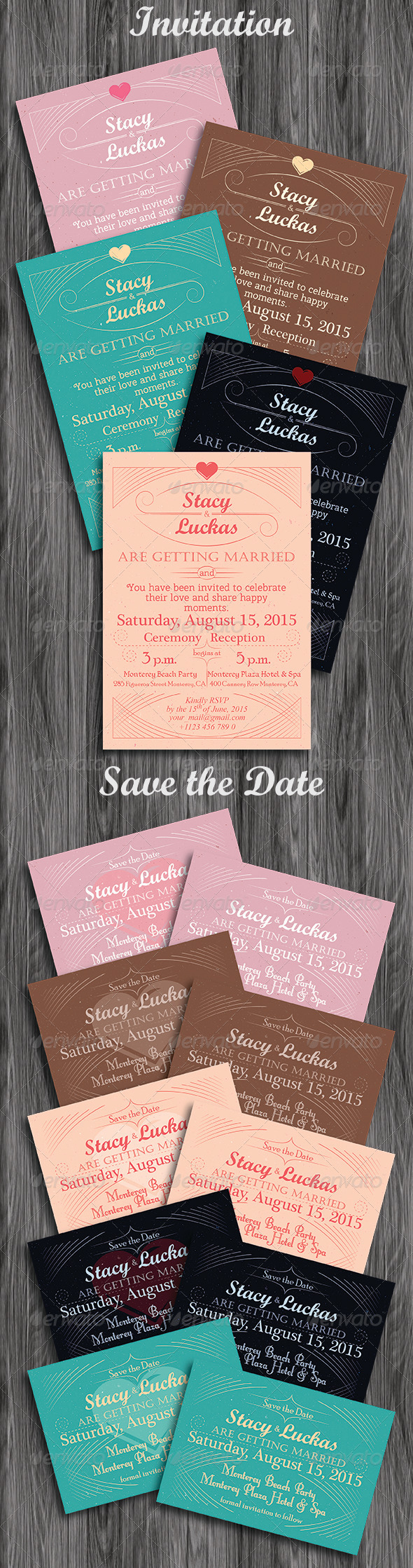 GraphicRiver Invitation and Save the Date Cards 5429397