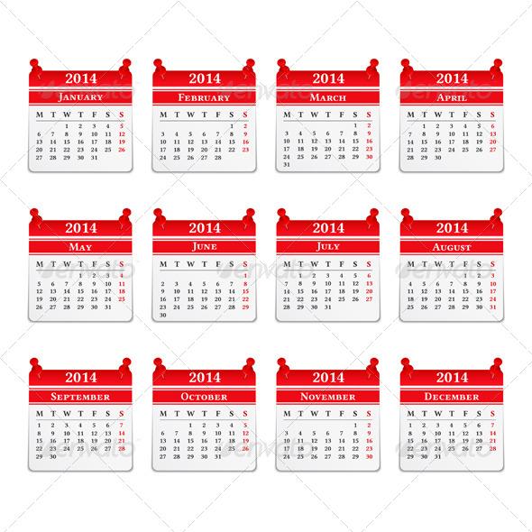 GraphicRiver 2014 Calendar 5448225