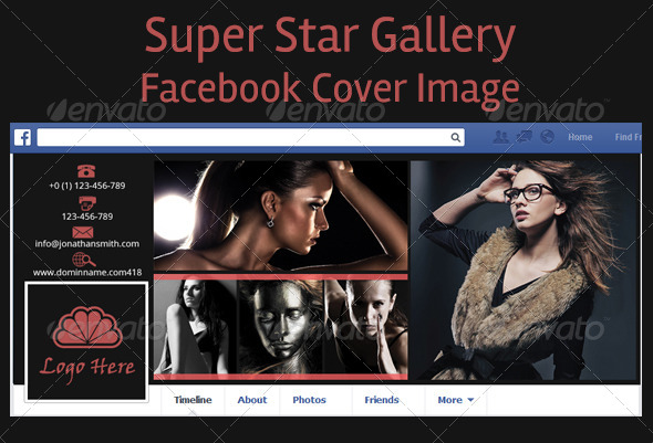 GraphicRiver Super Star Gallery Facebook Timeline Covers 5448239