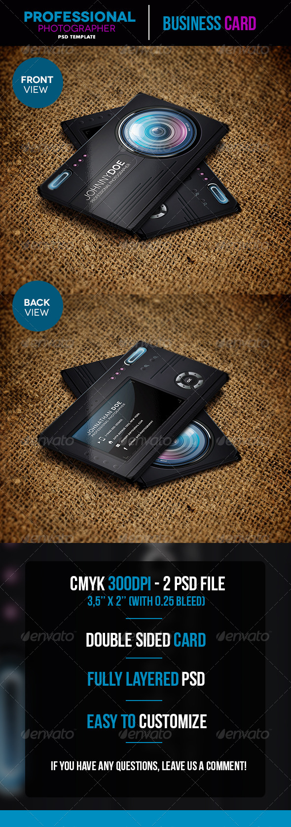GraphicRiver Professional Photographer Business Card 5448242