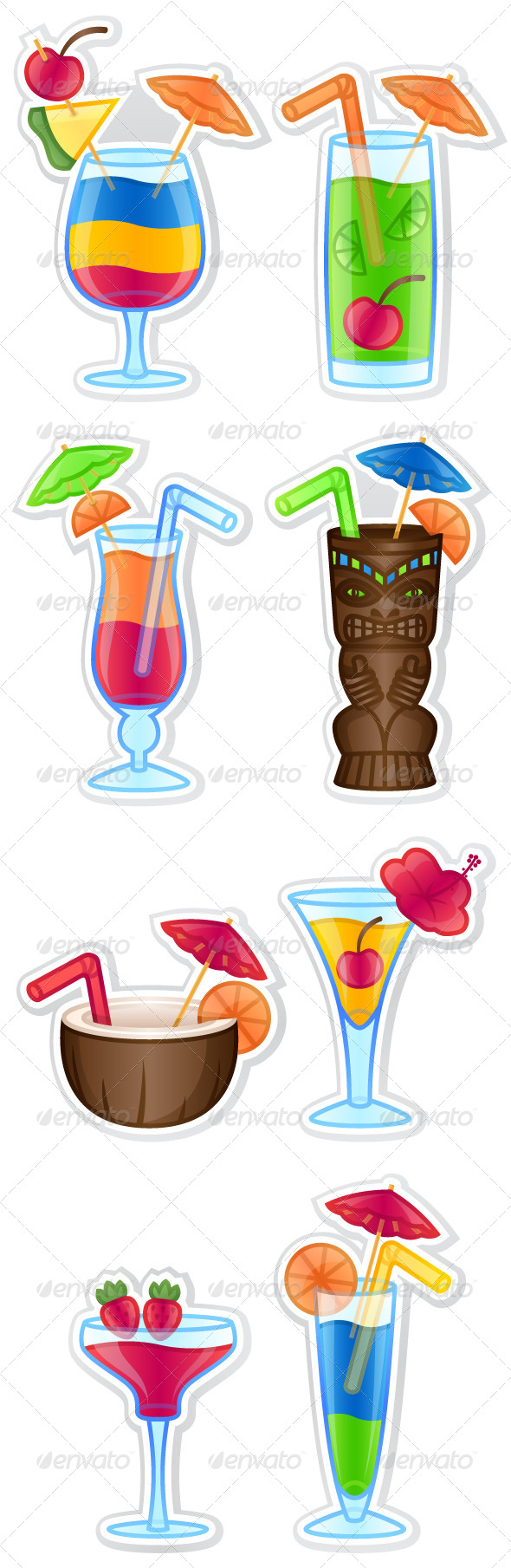 GraphicRiver Tropical Drinks 5448320