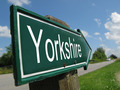 Yorkshire signpost along a road - PhotoDune Item for Sale