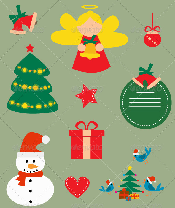 GraphicRiver Christmas Vector Set 5448354