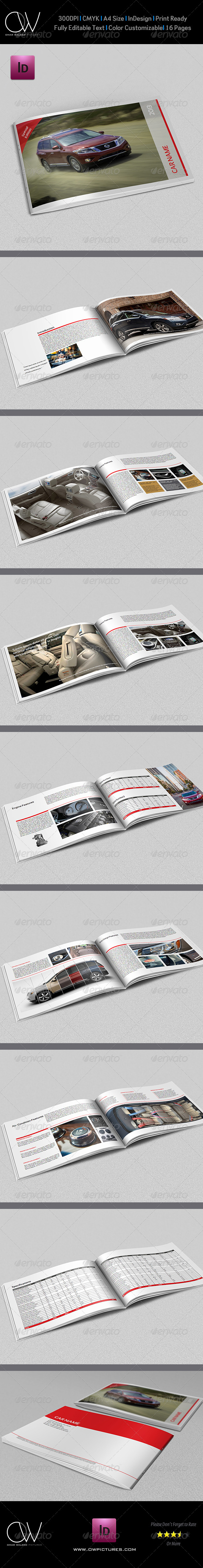 Car Catalog Brochure Template 16 Pages