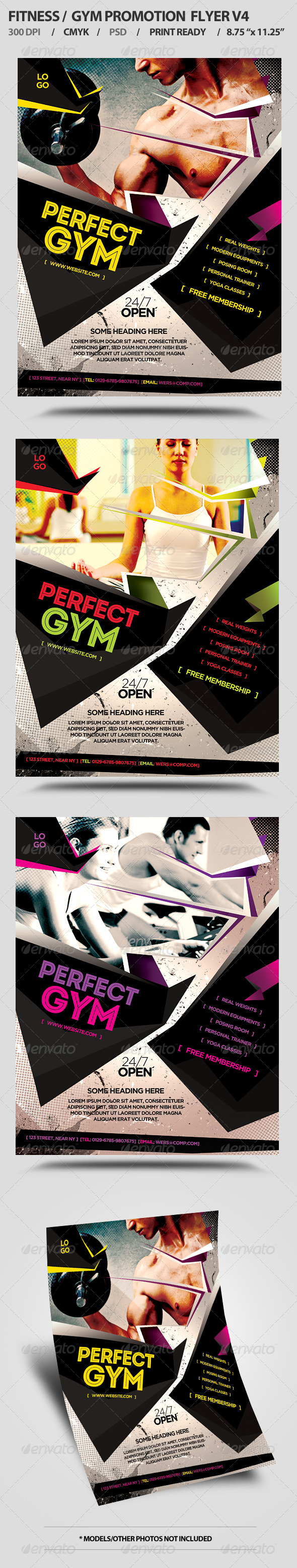 Fitness/Gym Business Promotion Flyer V4  - Flyers Print Templates