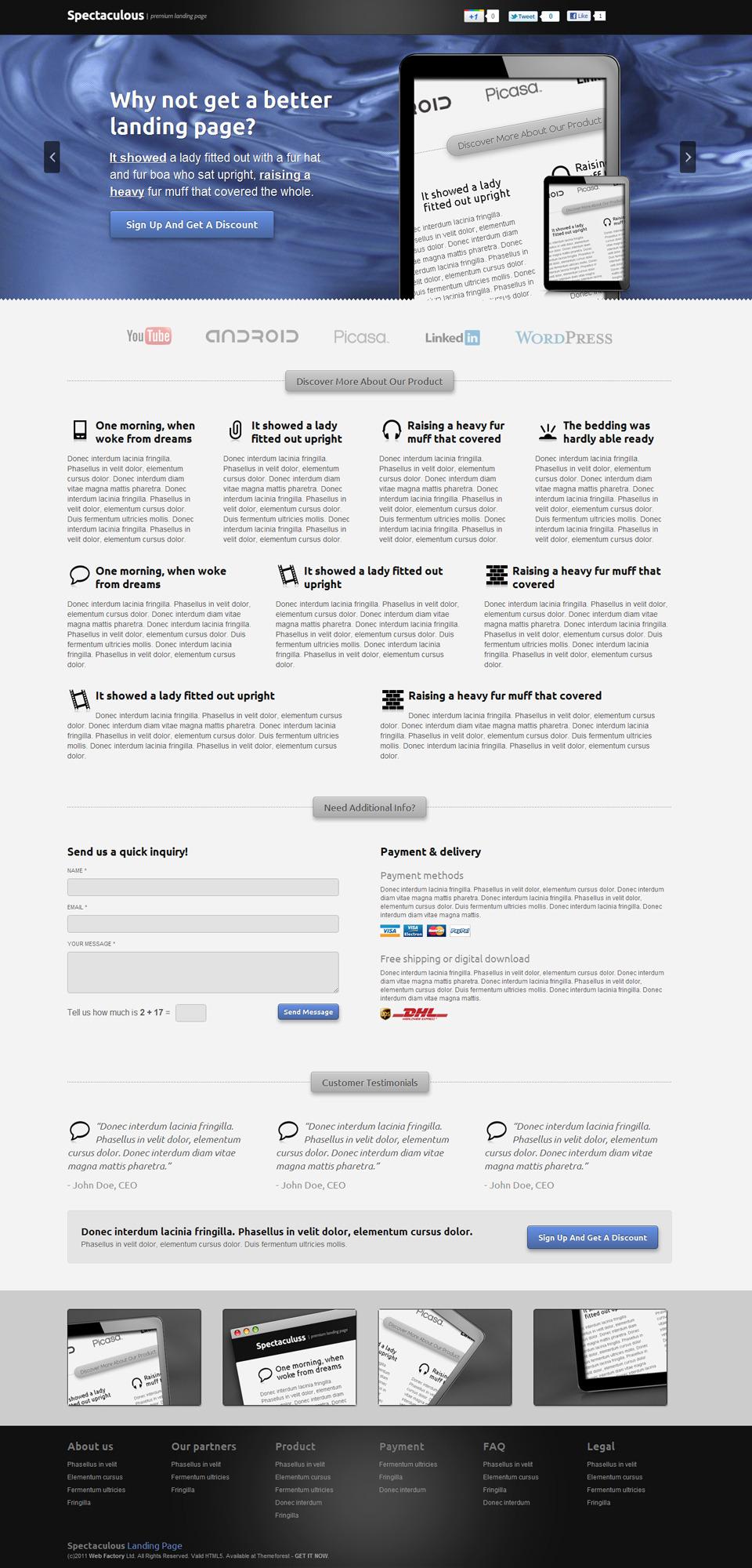 Spectaculous - Premium Landing Page
