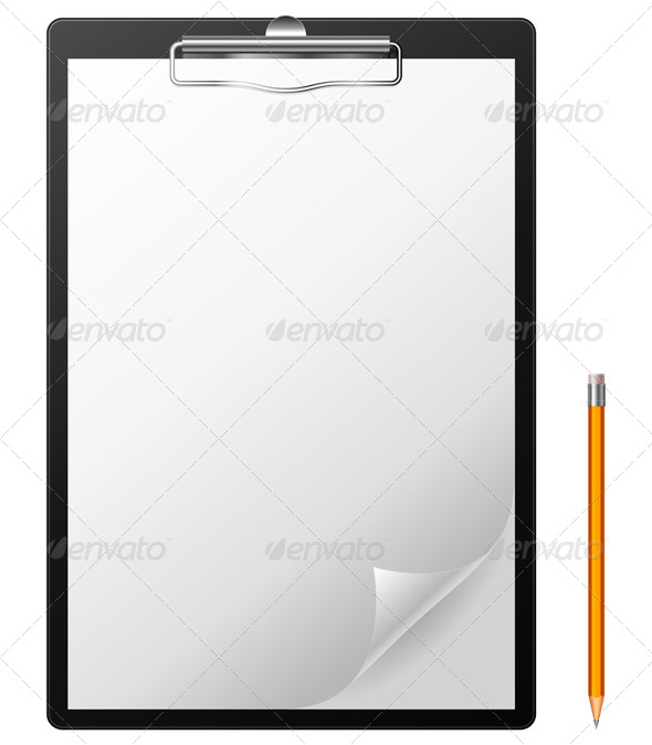 GraphicRiver Clipboard and Pencil 5448901