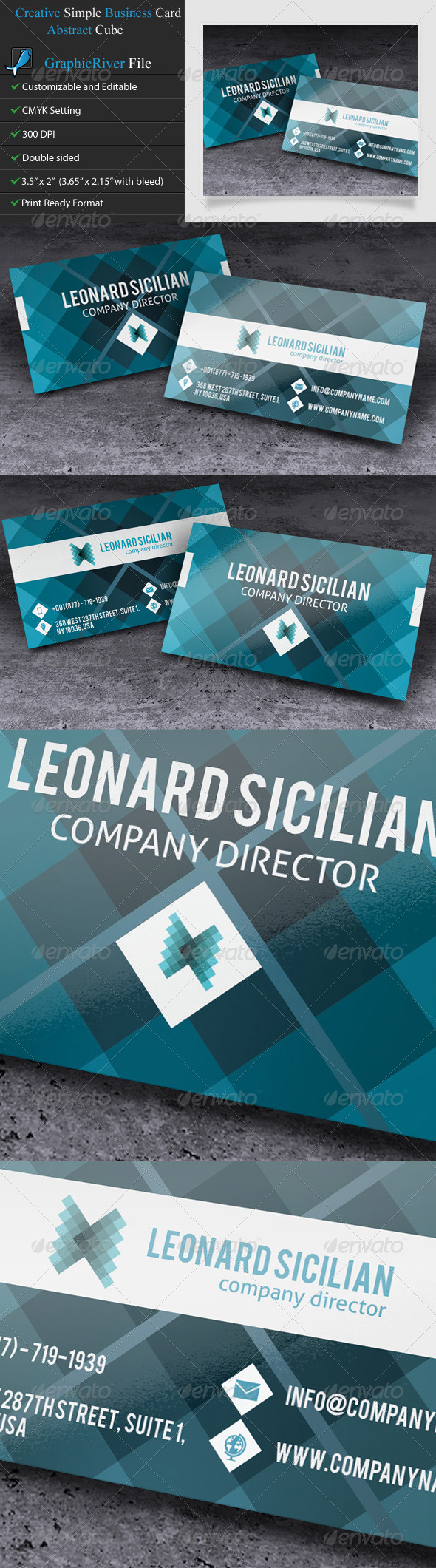 GraphicRiver Creative Business Card Mosaic 5449431