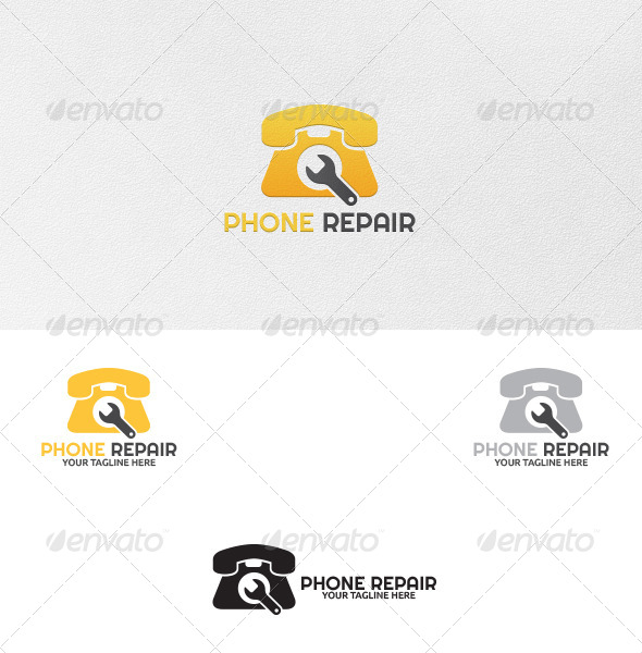 GraphicRiver Phone Repair Logo Template 5449461