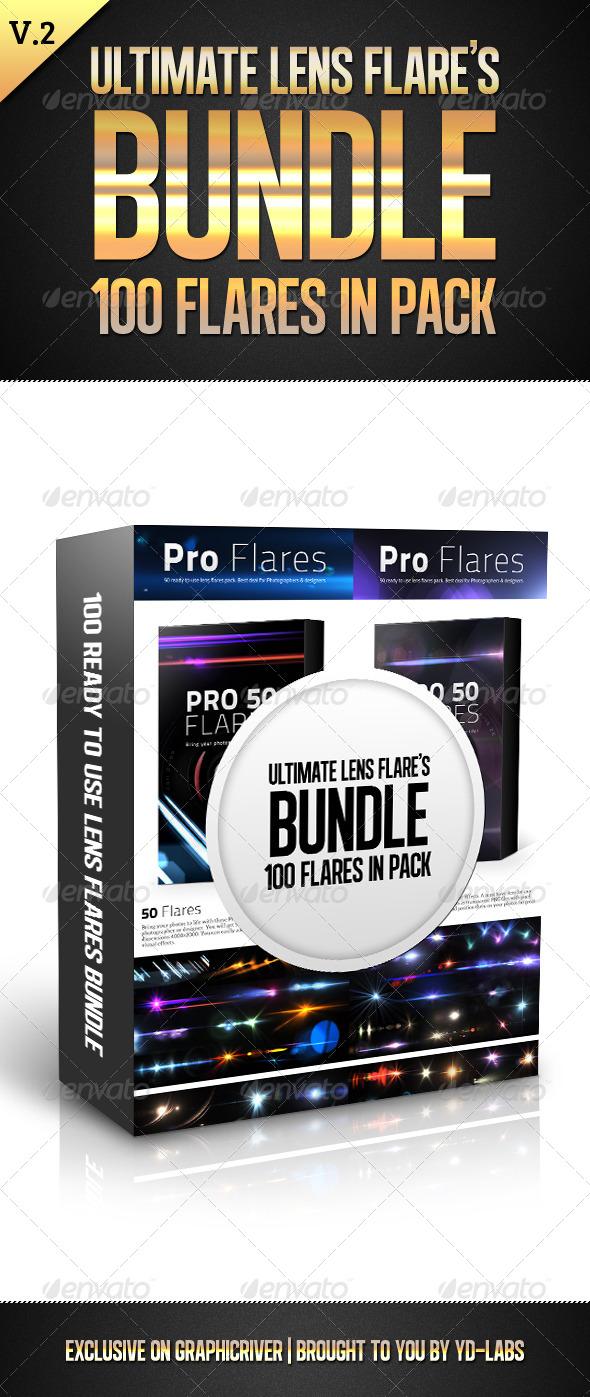GraphicRiver Ultimate Lens Flares Bundle V2 5449648